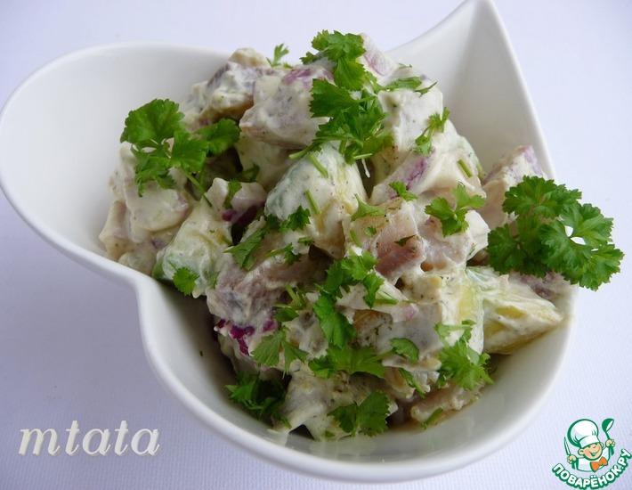 Рецепт: Салат из сельди с авокадо