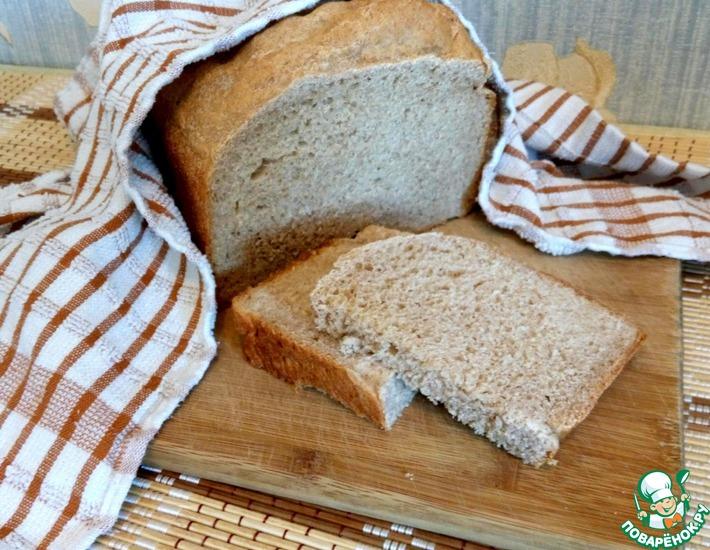 Рецепт: Хлеб на йогурте с цельнозерновой мукой