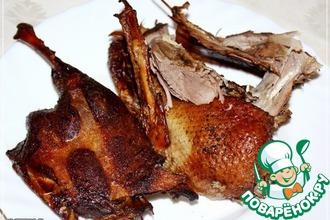 Рецепт: Утка варено-копченая