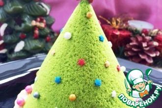 Рецепт: Пирожное Новогодняя елочка