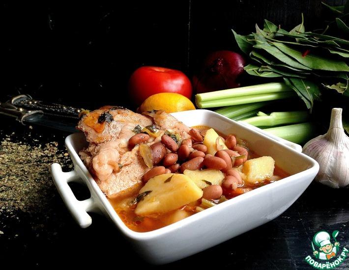 Рецепт: Грузинский суп Охотничий