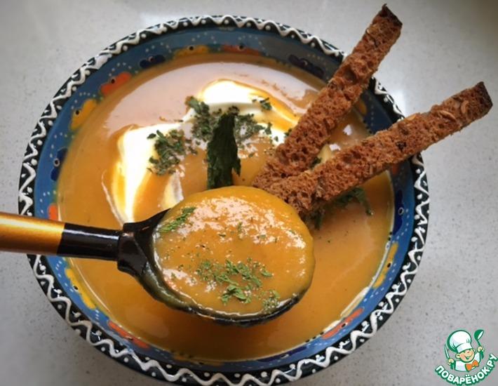 Рецепт: Тыквенно-яблочный крем-суп