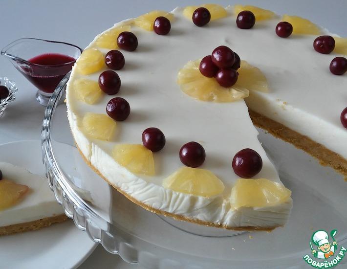 Рецепт: Йогуртовый торт без выпечки