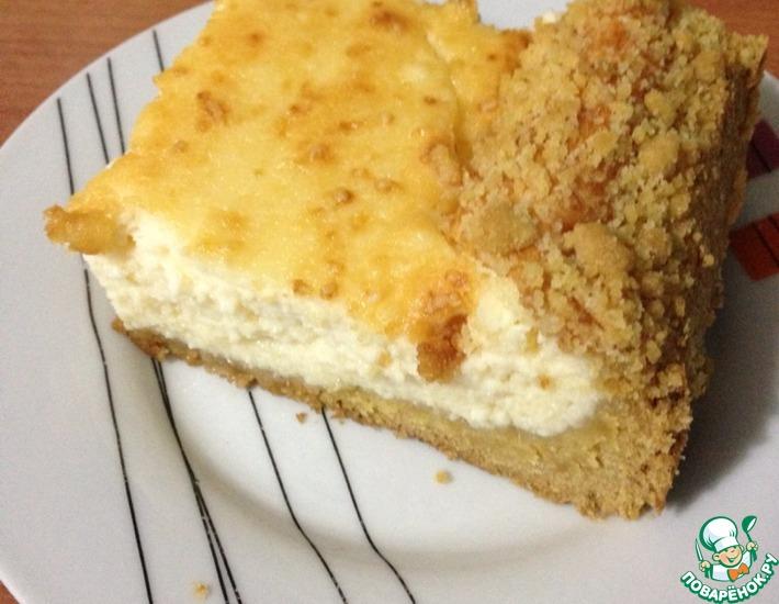Рецепт: Творожный пирог Нежность