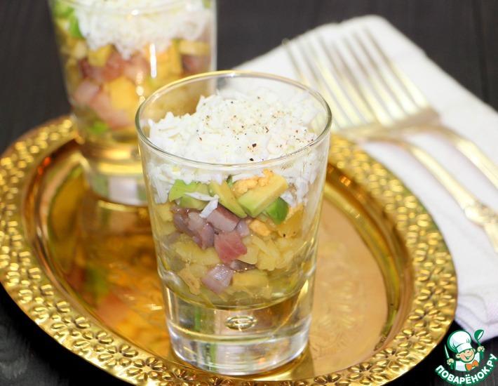 Рецепт: Салат с сельдью Новая шуба
