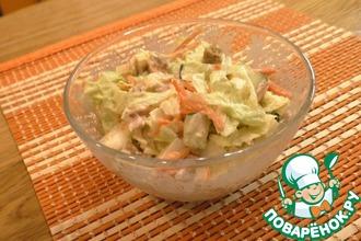 Рецепт: Пикантный салат с морковью по-корейски