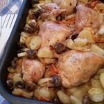 Картофель, запеченный с куриным мясом – кулинарный рецепт