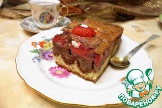 Рецепт: Клубничный пирог для подружек