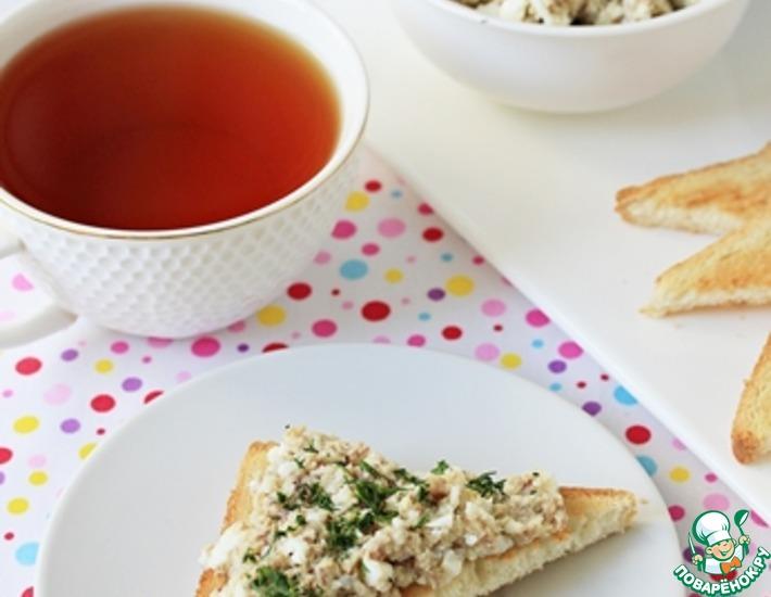 Рецепт: Паштет из сардин и яиц