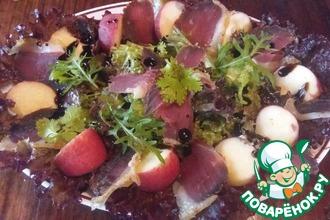 Рецепт: Салат с вяленой утиной грудкой