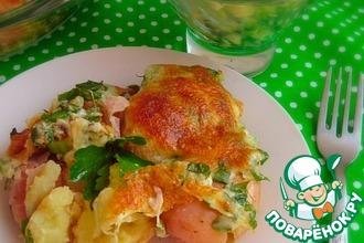 Рецепт: Запеченный молодой картофель с сыром сулугуни
