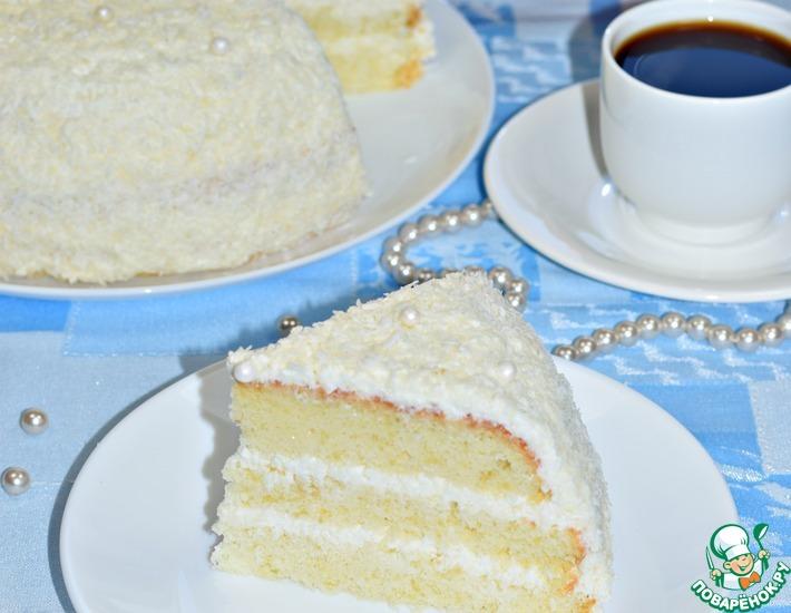 Рецепт: Торт Снежная королева