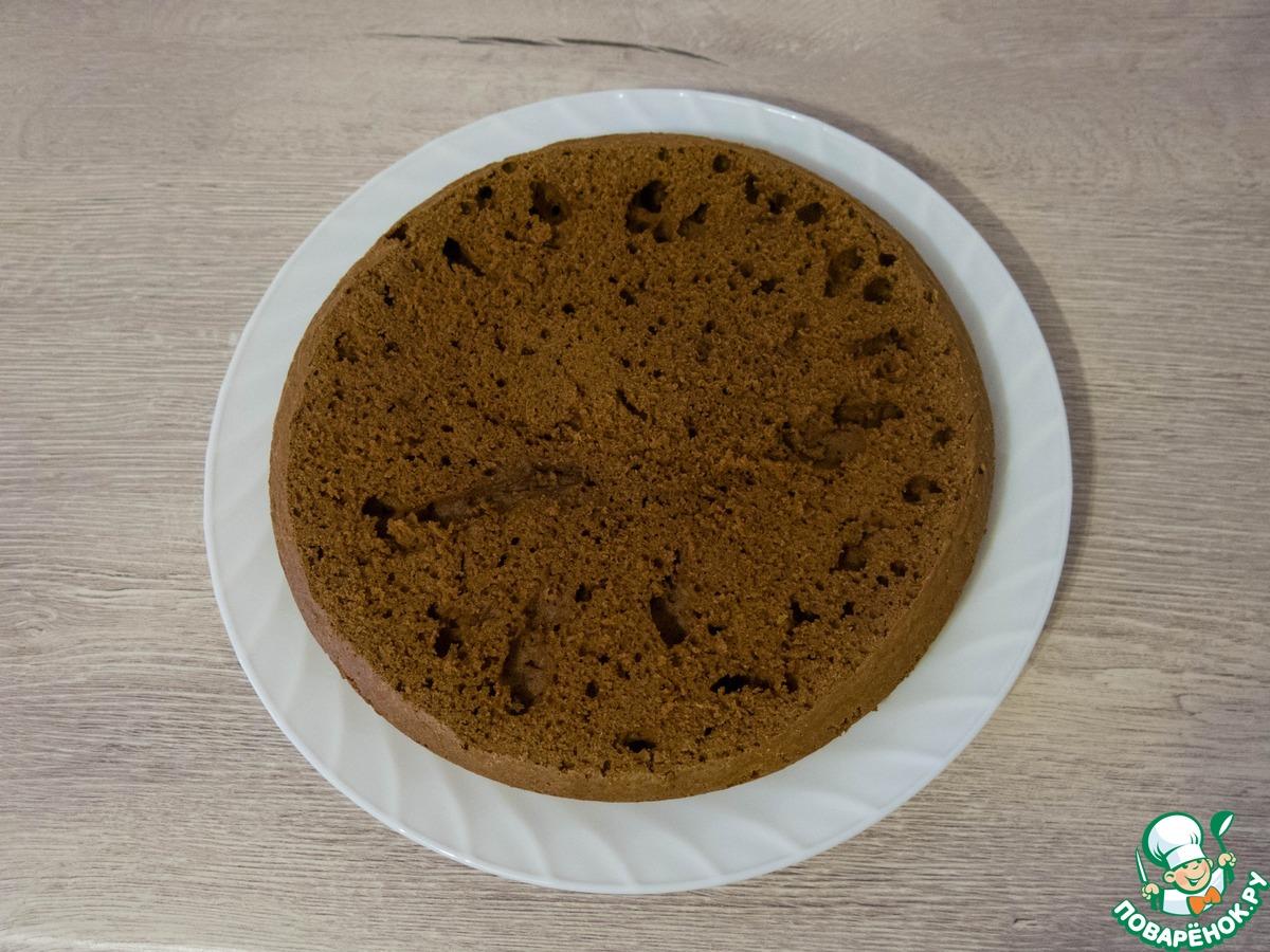 Шоколадно-кокосовый торт с вишней