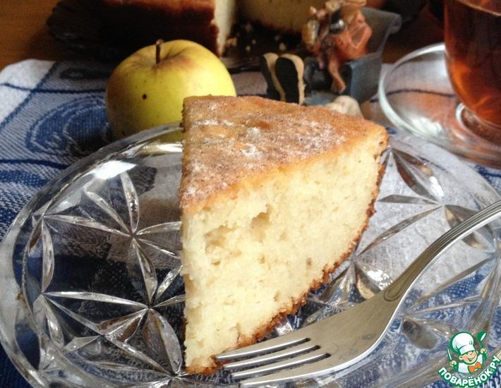 Рецепт: Яблочный кекс Нежный