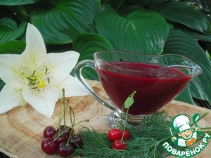 Cherry sauce for meat dishes