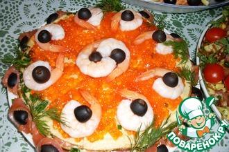 Рецепт: Закусочный блинный торт Жизнь удалась