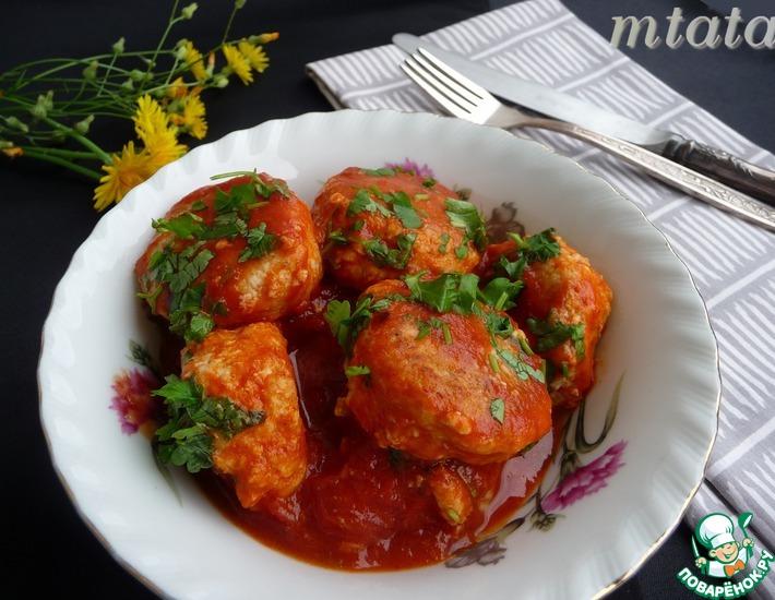 Рецепт: Фрикадели в томатном соусе