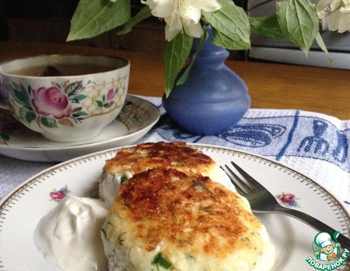 Рецепт: Сырники с зеленью и сыром