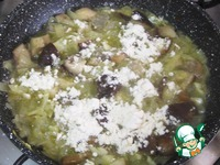 Камбала, запеченная с грибами ингредиенты
