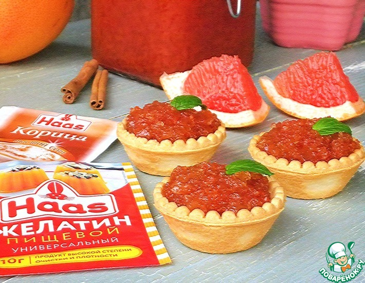 Рецепт: Грейпфрутовое варенье с корицей