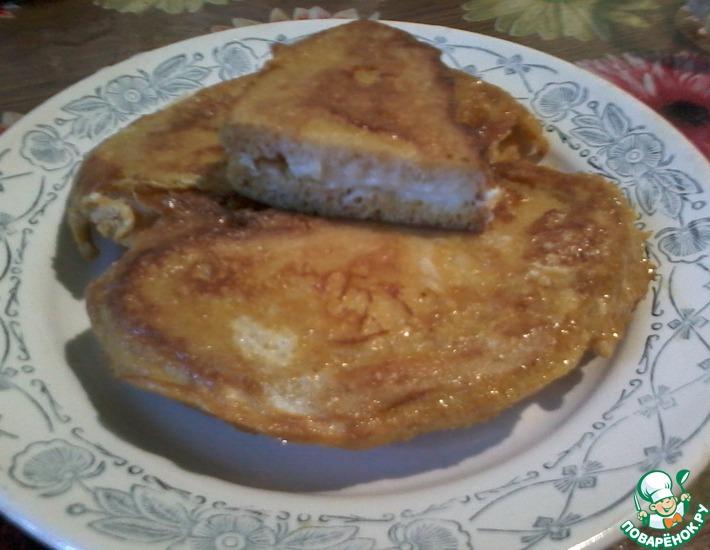 Рецепт: Тосты с плавленым сыром