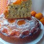 Маковый пирог с абрикосами