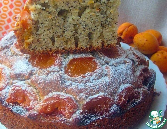 Рецепт: Маковый пирог с абрикосами