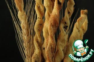 Рецепт: Итальянские хлебные палочки Гриссини