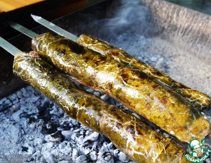 Рецепт: Долма на шампурах