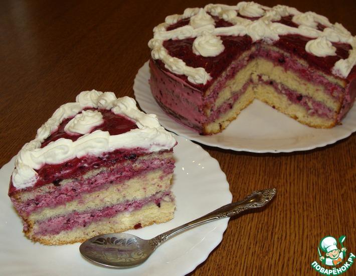 Рецепт: Торт Чёрная ягодка