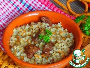 Barley porridge with beef