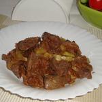Печень индейки в горчично-соевом маринаде