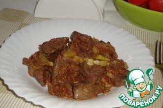 Рецепт: Печень индейки в горчично-соевом маринаде