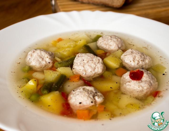 Рецепт: Овощной суп с фрикадельками