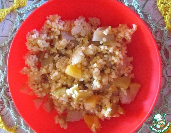 Рецепт: Пшенная каша с тыквой и фруктами