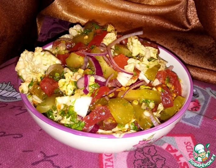 Рецепт: Салат Времена года