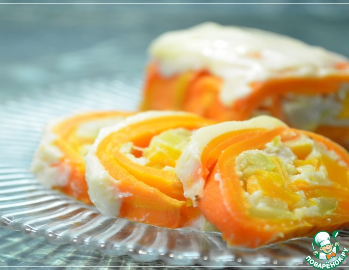 Рецепт: Морковный рулет