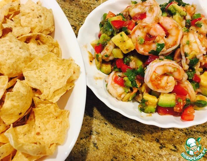 Рецепт: Салат с креветками Кампечена