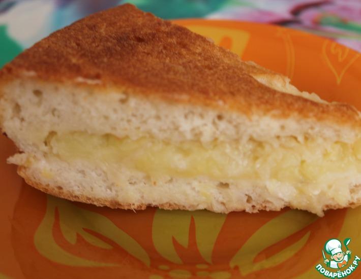 Рецепт: Пирог с картофелем и капустой