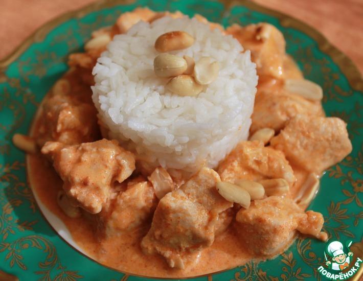 Рецепт: Курица с арахисом