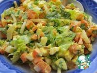 Салат из яиц, моркови и лука ингредиенты