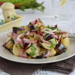 Салат из картофеля и баклажанов