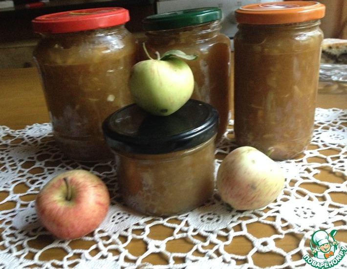 Рецепт: Тёртый яблочный джем