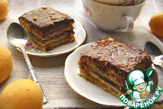 Рецепт: Абрикосово-шоколадный десерт
