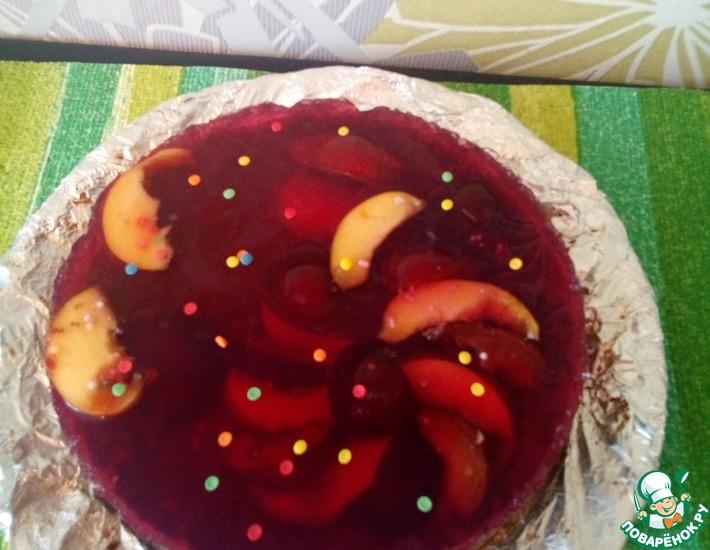Рецепт: Желейный торт с фруктами