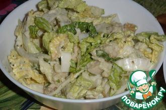Рецепт: Салат из пекинской капусты с рыбой