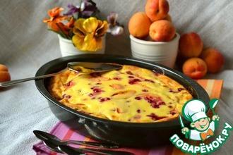 Рецепт: Заливной пирог с абрикосами