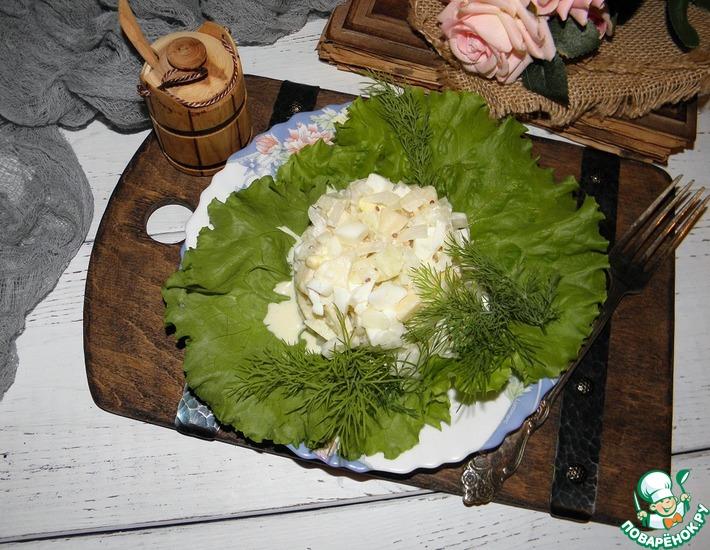 Рецепт: Луковый салат с яблоками