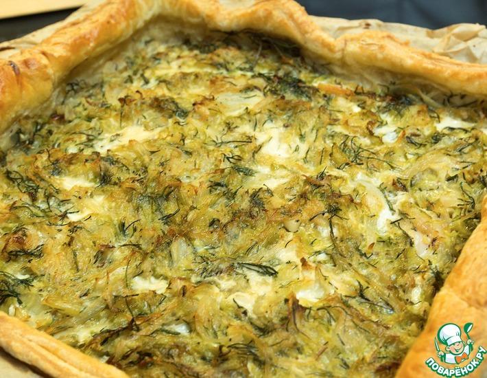 Рецепт: Пирог с судаком и капустой