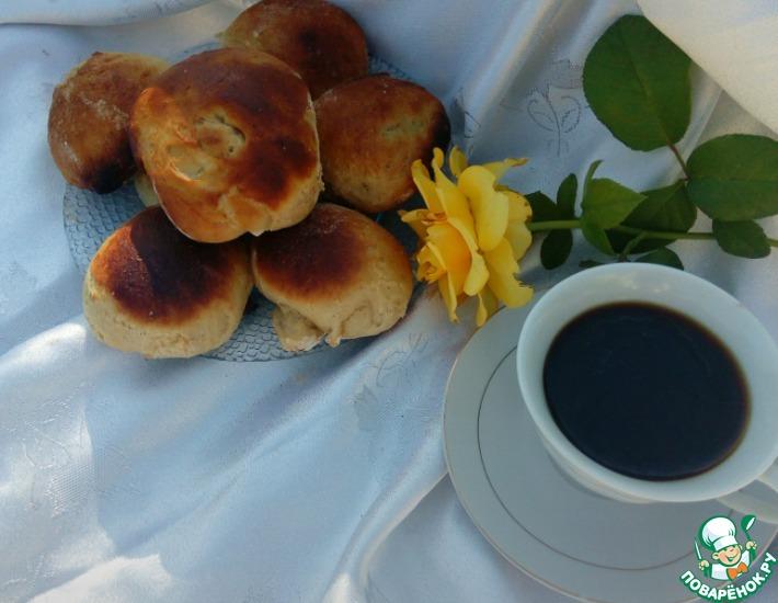 Рецепт: Булочки кофейно-черемуховые